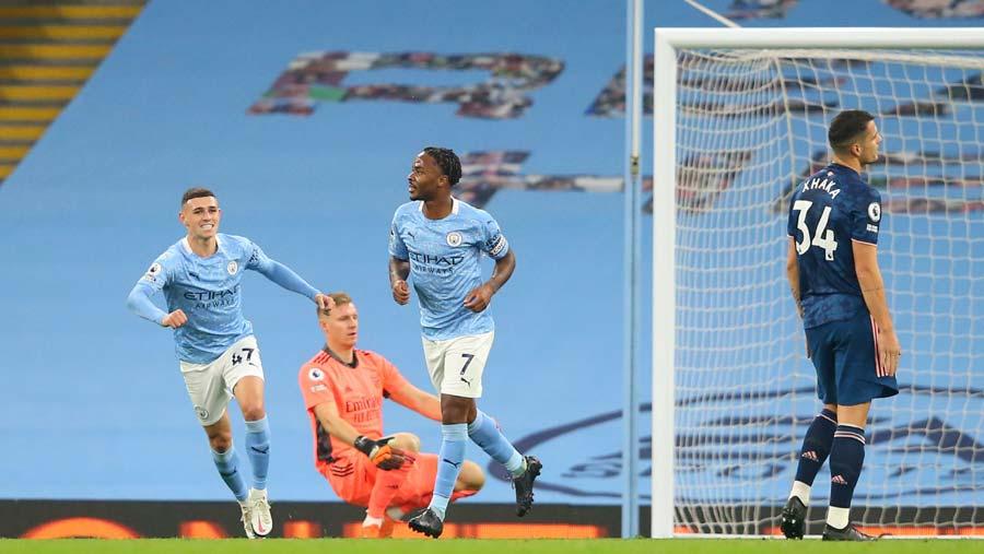 Sterling hits winner as Man City beat Arsenal