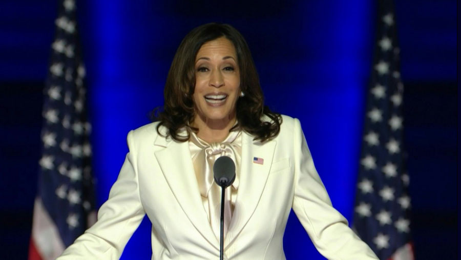 Kamala Harris vows 'will not be the last'