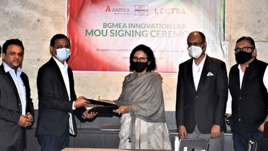 aamra-BGMEA sign MoU for BGMEA Innovation Lab