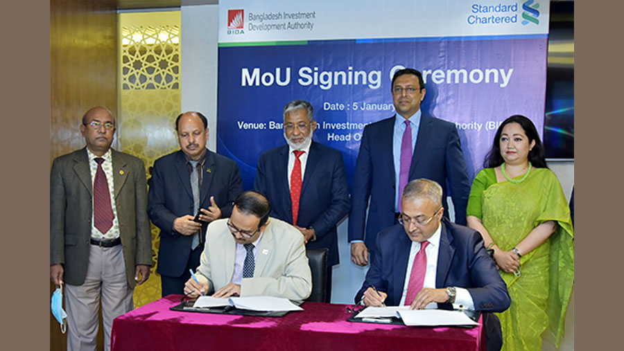 BIDA, Standard Chartered announce partnership to increase FDI