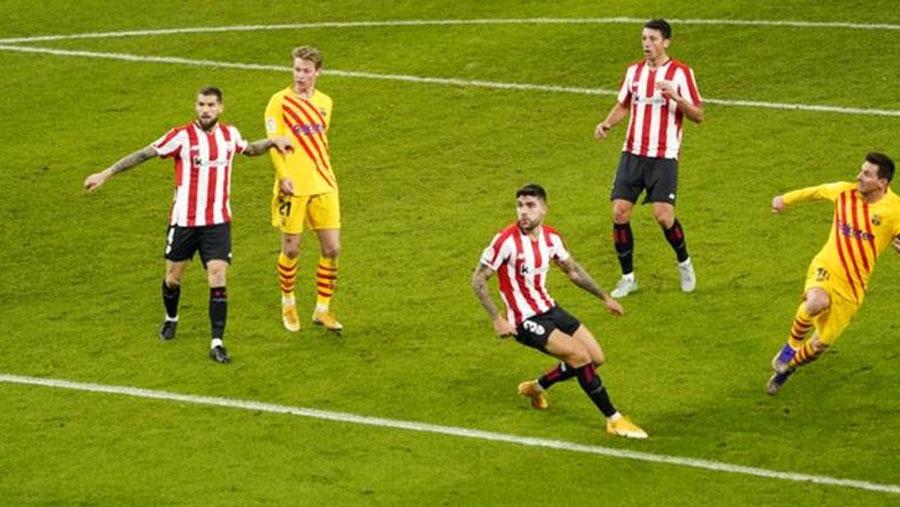 Messi scores two as Barca go third in La Liga