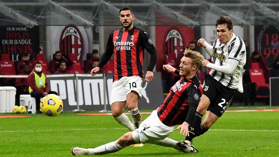 Juventus end Milan's 27-game unbeaten run