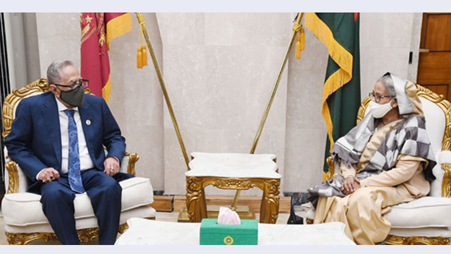 PM calls on President at Jatiyo Sangsad