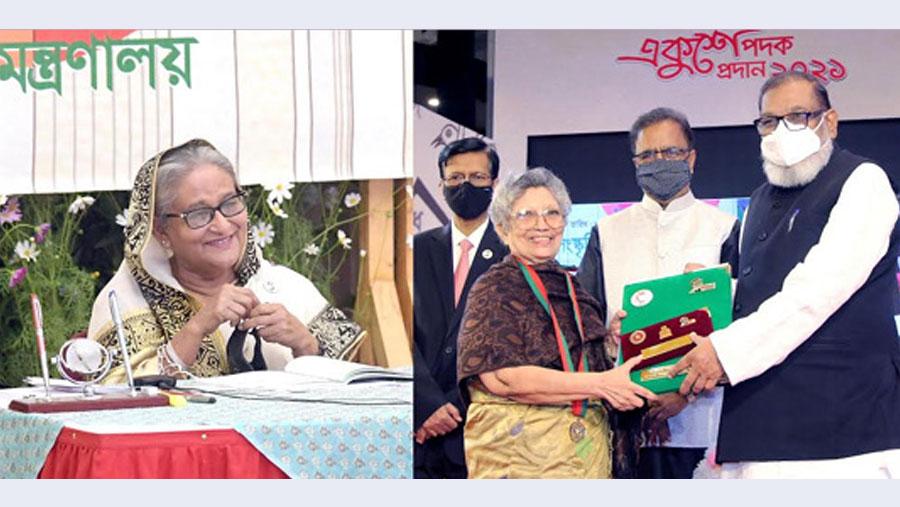 PM hands over Ekushey Padak-2021