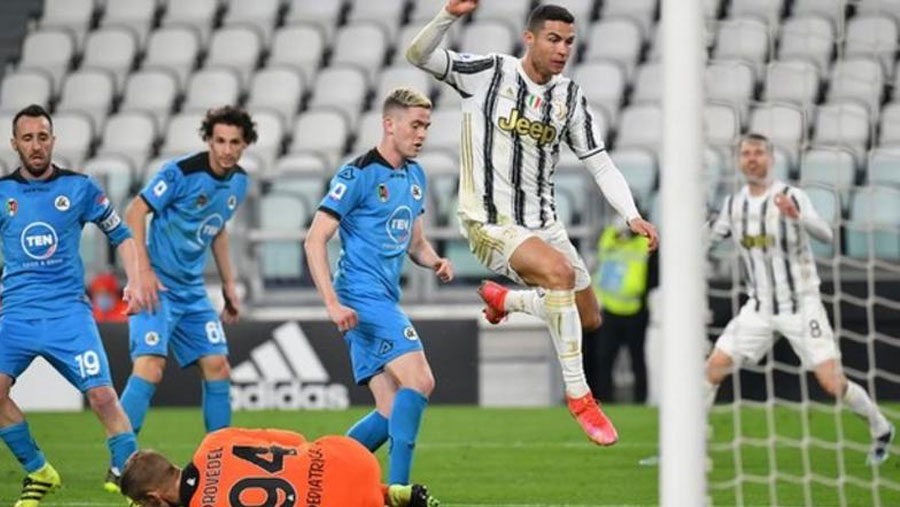 CR7 marks landmark match with another goal