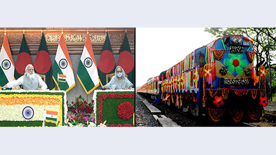 Hasina, Modi open Dhaka-New Jalpaiguri rail service