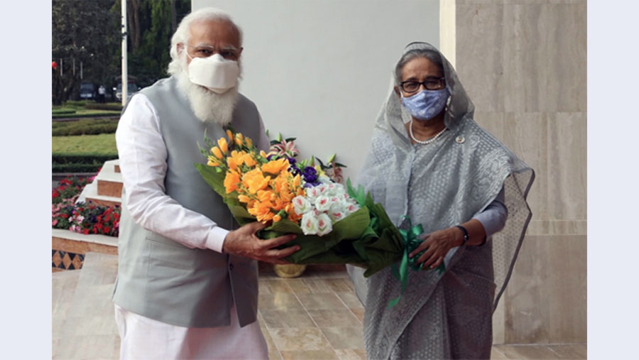 Sheikh Hasina, Modi jointly inaugurate five projects