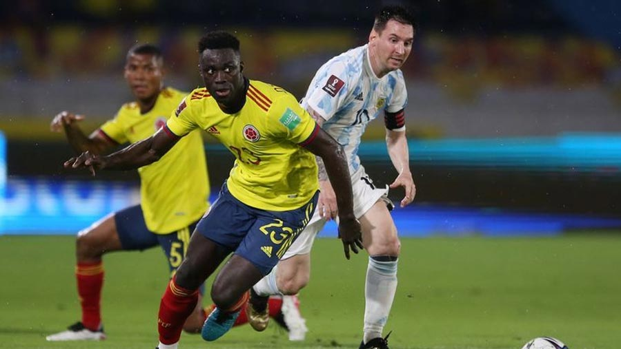 Colombia grab 2-2 draw with Argentina
