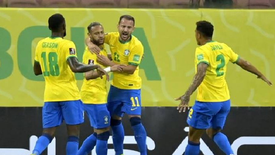 Brazil scores twice in first half to beat Peru