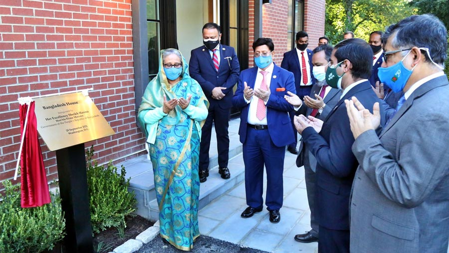 PM opens Bangladesh House in USA's Maryland