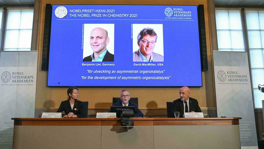 Pair win Nobel prize in chemistry for work on organic catalysts